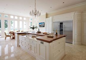 欧式风格开放式厨房整体橱柜装修效果图