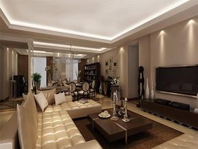 现代风格客厅装潢设计效果图