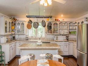 田园风格开放式厨房装修效果图
