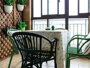 乡村美式田园风休闲阳台餐厅设计