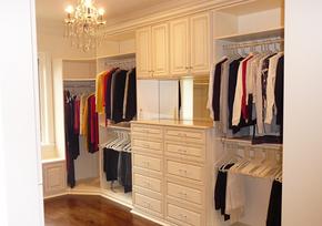 简约欧式风格整体衣柜装修效果图