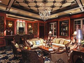 新古典风格客厅吊顶创意设计效果图