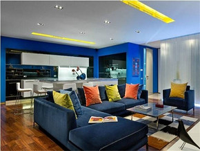 地中海风格客厅室内装修图纸