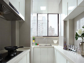 INS流行简约欧式厨房装修效果图