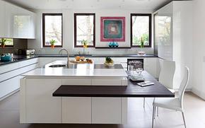 现代风格开放式厨房吧台装修效果图