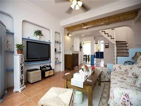 地中海风格小户型客厅装修图片