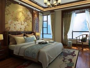 新中式风格卧室双人床图片