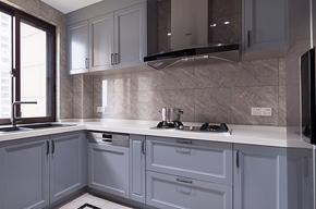 美式风格轻奢厨房橱柜装修效果图