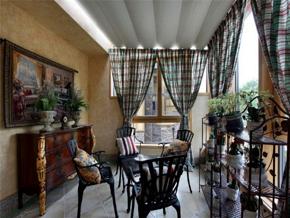典雅气质乡村美式风格阳台装修设计