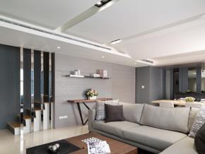 177平米现代简约风格复式楼室内装修效果图