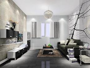 简约风格客厅电视柜装修设计效果图