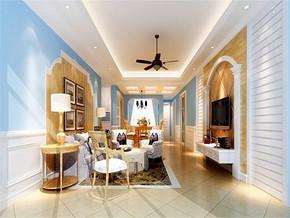 地中海风格客厅效果图欣赏