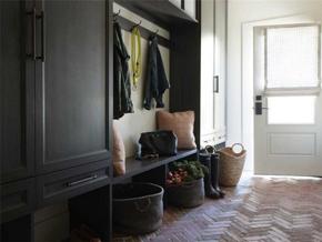 美式风格温馨质朴玄关储物柜装修图片
