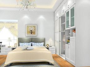 韩式田园风格卧室衣柜装修效果图