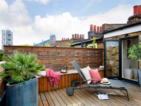 自然休闲现代风格舒适阳台装修实景图