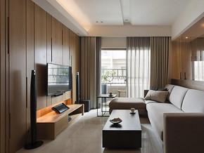 日式风格客厅隐形门装修设计效果图