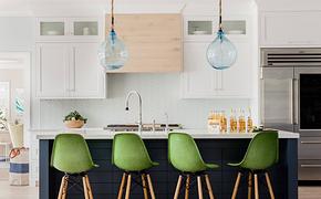 清新地中海风格家庭实用吧台装修效果图