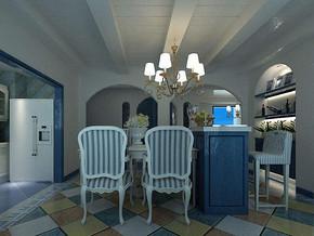 地中海式餐厅吊顶装修效果图