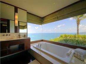 现代风格海景别墅浴室装修图片