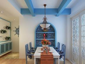 地中海风格餐厅吊顶装修效果图