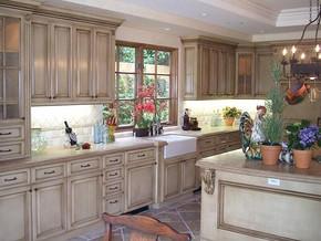 田园风格别墅厨房装修效果图