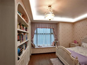 可爱韩式卧室装修效果图