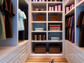 整齐干净的衣帽间组合衣柜图片