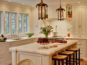 欧式风格厨房吧台装修设计效果图