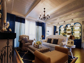 地中海风格客厅室内装修效果图大全