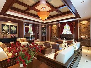 混搭风格客厅背景墙装修效果图
