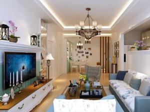 纯白色客厅整体设计装修效果图