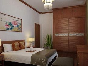 现代中式风格卧室衣柜装修效果图
