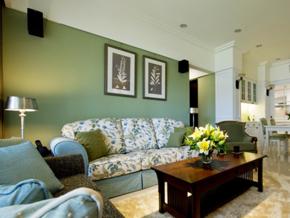 80平米甜美美式田园风格室内装修效果图