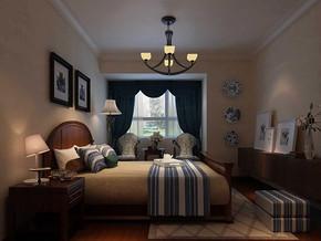 地中海风格精致卧室装修效果图