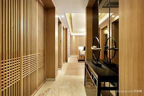 素雅新中式风格三室两厅一卫装修效果图