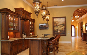 美式风格实木吧台家居吧台装修效果图