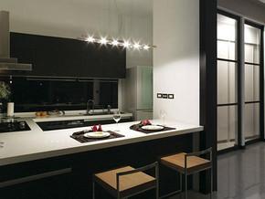 现代风格厨房吧台装修效果图