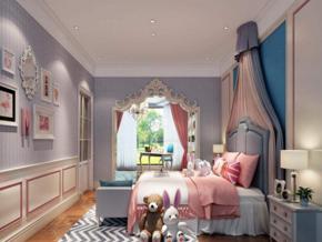 韩式风格女孩房间装修效果图