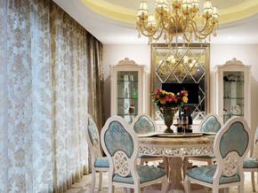 典雅浪漫欧式风格餐厅设计装修效果图