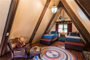 美式风格阁楼卧室装修效果图