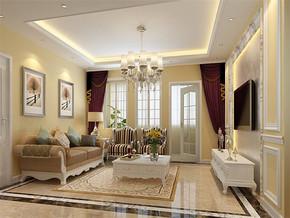 简欧最时尚的客厅吊顶效果图