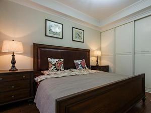 休闲美式风格卧室衣柜装修效果图