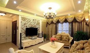 欧式风格客厅电视背景墙装修效果图