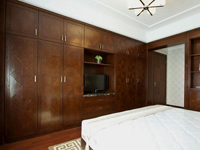 中式风格卧室组合柜装修效果图