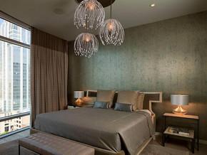 现代北欧风格卧室吊灯装修效果图