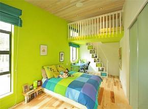 现代小清新风格儿童房装修效果图