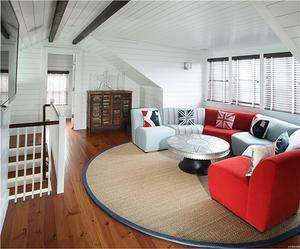 美式简约风格阁楼客厅装修效果图