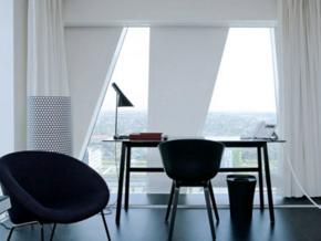 黑白时尚现代风格书房设计装修效果图