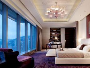 时尚精美简欧风格酒店客房装修效果图