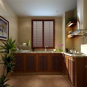 现代简约风格小厨房装修效果图